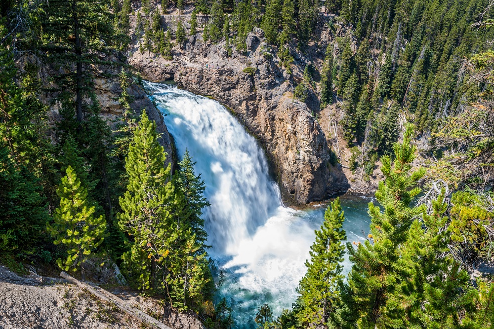 Tower Falls_Yellowstone National Park.One of the most